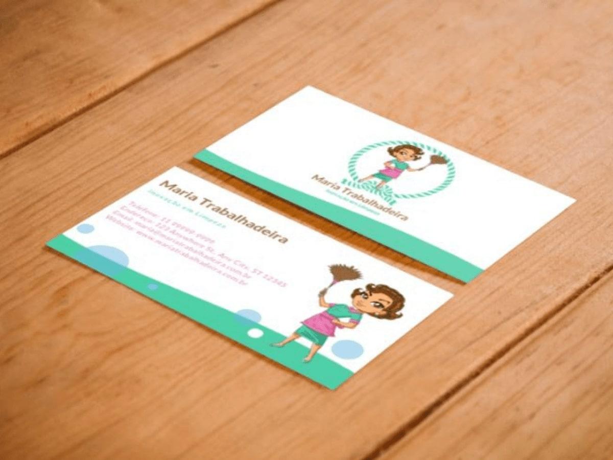 Cartão de visita com design da Definitiva Digital