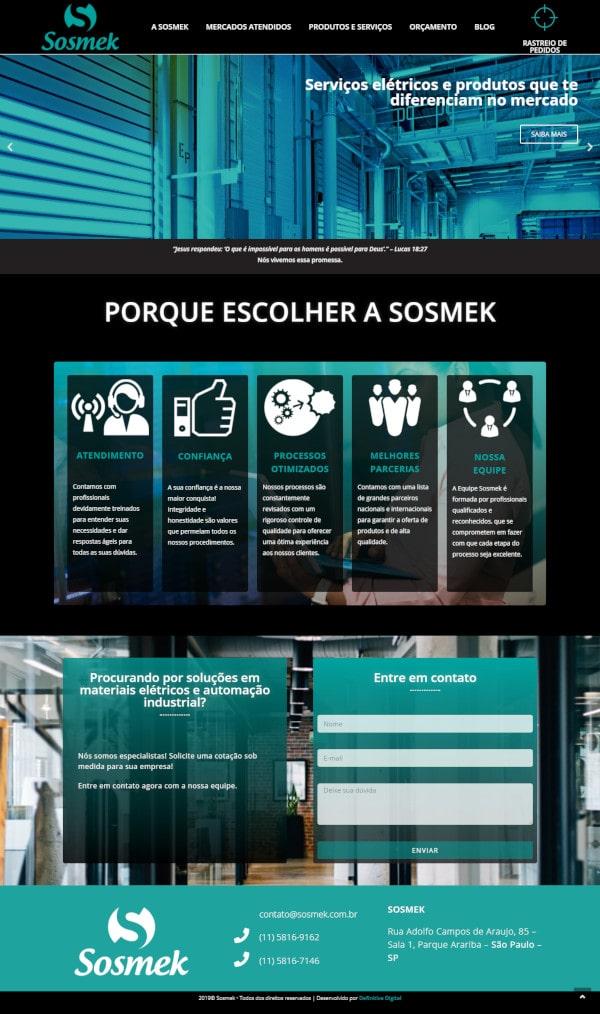 Criação de site institucional para Sosmek